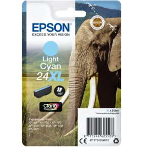 "EPSON ink bar Singlepack ""Slon"" Light Cyan 24XL Claria Photo HD Ink"