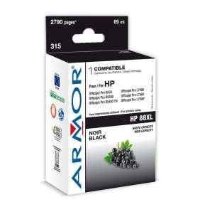 ARMOR ink-jet pre HP OFFICEJET PRO K550, K5400 Serie, 2790 strán, C9396A, čierná/black HC (HP 88XL)