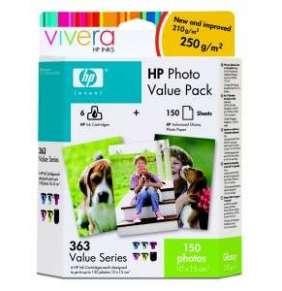 HP 363 - value photo pack, Q7966EE + 150 ks 10x15