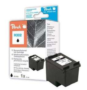 PEACH kompatibilní cartridge HP F6U66A, No 302, black, 6ml