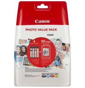 Canon BJ CARTRIDGE CLI-581 BK/C/M/Y PHOTO VALUE BLISTER