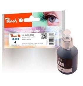 PEACH kompatibilní cartridge Brother CISS BT6000, černá pigment, PI500-180,  100ml