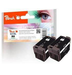 PEACH kompatibilní cartridge Epson No.27XL Twin-Pack, PI200-472, REM, 2x Black, 2x 20 ml