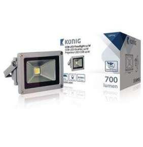 König KNLEDFL10W1 - LED Reflektor 10 W 700 lm Šedá