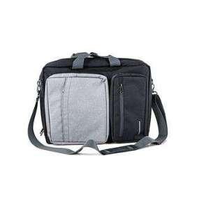 """Modecom brašna RENO na notebooky do velikosti 15,6"""", kovové přezky, 5 kapes, funkce batohu, černo/šedá"""