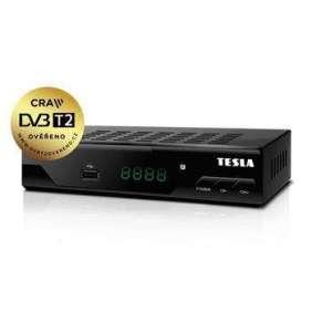 TESLA DVB-T/T2 přijímač TE-320/ Full HD/ H.265/HEVC/ CRA ověřeno/ FTA/ PVR/ EPG/ USB/ HDMI/ LAN/ SCART/ youtube/ černý