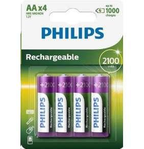 Philips baterie AA 2100mAh MultiLife, NiMh - 4ks