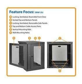 TrippLite SMARTRACK™ Series 12U Wall-Mount Rack Enclosure Cabinet