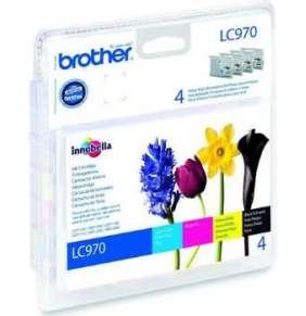 BROTHER inkoustová náplň LC-970 VALBP/ multipack/ Černá + tři barvy