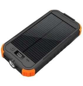 Viking solární outdoorová power banka CHARLIE II 12000mAh, černo-oranžová