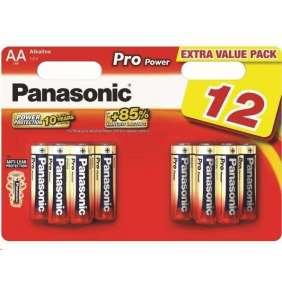 PANASONIC Alkalické baterie Pro Power LR6PPG/12BW AA 1,5V (Blistr 12ks)