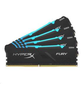 DIMM DDR4 64GB 3466MHz CL16 (Kit of 4) KINGSTON HyperX FURY Black RGB