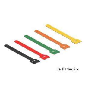 Delock Hook-and-loop fasteners coloured L 200 mm x W 12 mm 10 pieces
