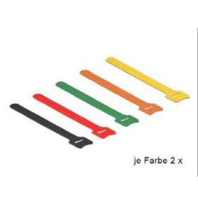 Delock Hook-and-loop fasteners coloured L 150 mm x W 12 mm 10 pieces