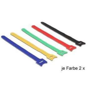 Delock deset kusů barevných vázacích pásky na suchý zip L 240 x W 12 mm