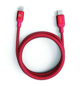 Adam Elements kábel Peak II C120B USB-C to Lightning 1,2m - Red