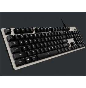 Logitech klávesnice Gaming G413, bílé podsvícení, US - stříbrná