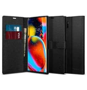 Ochranné pouzdro s funkcí stojánku Spigen Wallet S pro Samsung Galaxy Note10+ černé