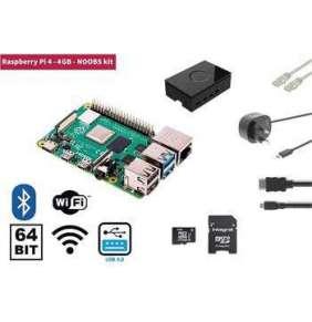 Raspberry Pi 4, 4GB Starter Kit, WiFi, Bluetooth + NOOBS software