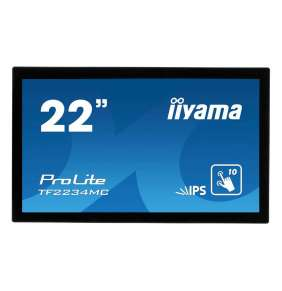 "22"" iiyama TF2234MC-B6X: IPS, FullHD, capacitive, 350cd/m2, VGA, DP, HDMI, černý"
