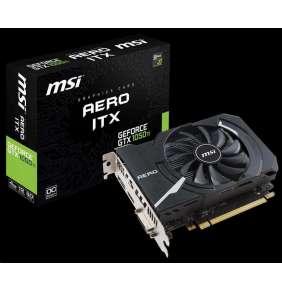 MSI VGA NVIDIA GeForce GTX 1050 Ti AERO ITX 4G OC, 4GB GDDR5, 1xHDMI, 1xDP, 1xDVI