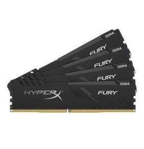 KINGSTON 32GB 2400MHz DDR4 CL15 DIMM (Kit of 4) 1Rx8 HyperX FURY Black Refresh