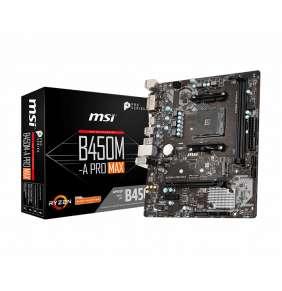 MSI B450M-A PRO MAX / B450 / AM4 / 2x DDR4 DIMM / M.2 / DVI-D / HDMI / mATX