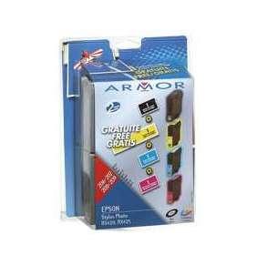 ARMOR ink-jet pre EPSON Stylus Photo RX420, RX425 (1 black free), , T055XXX, 2xčierná/black+C+M+Y ()