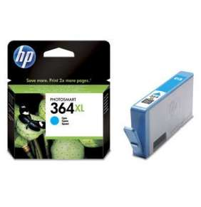 HP 364XL Cyan Ink Cart, 6 ml, CB323EE