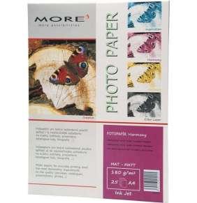 Fotopapier MORE pre ink-jet Harmony 180g/m2, matt, jednostranný matný vysoko kontrastný, A4, 25 listov