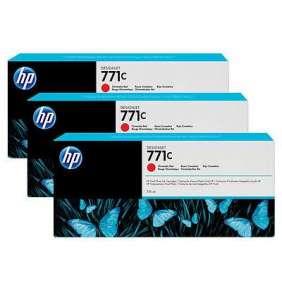HP 771C Red chromatic DJ Ink Cart, 775 ml, 3-pack, B6Y32A