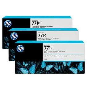 HP 771C Black photografic DJ Ink Cart, 775 ml, 3-pack, B6Y37A
