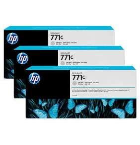 HP 771C Light Grey DJ Ink Cart, 775 ml, 3-pack, B6Y38A