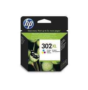 HP 302XL High Yield Tri-color Original Ink Cartridge, , F6U67AE