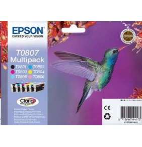 EPSON ink Multipack 6-colours T0807 Claria Photographic Ink blistr