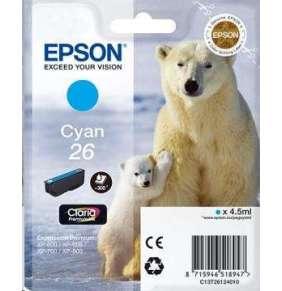 "EPSON Ink bar Singlepack ""Lední medvěd"" Cyan 26 Claria Premium Ink (4,5 ml)"