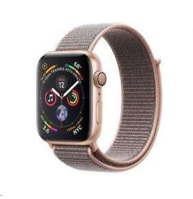Apple Watch Series 4 44mm zlatý hliník s pískově růžovým provlékacím sportovním řemínkem