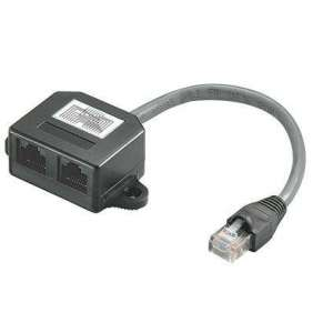PremiumCord Modulární RJ45 distributor 2 porty paralelní zapojení