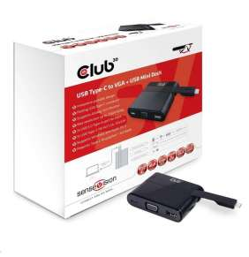 Club 3D USB Type C to VGA + USB 3.0 + USB Type C Charging Mini Dock