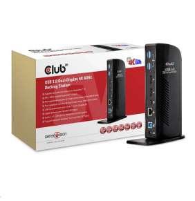 Club 3D USB 3.0 Dual Display 4K60Hz UHD Docking Station / Hybrid for USB-A or USB-C