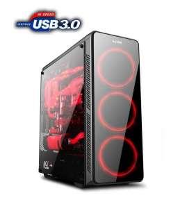 1stCOOL skříň GAMER 3, Full Tower, AU, USB 3.0, bez zdroje, Black