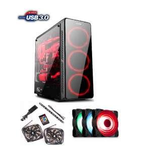 1stCOOL FullTower GAMER 3, SET FAN1 RGB LED skrinka ATX, USB3.0, čierna