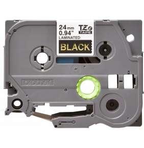 BROTHER TZE354 - kazeta TZ šířky 24mm, laminovaná TZE-354, černá/zlaté písmo