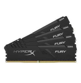 KINGSTON 64GB 2666MHz DDR4 CL16 DIMM (Kit of 4) HyperX FURY Black Refresh