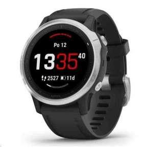 GARMIN chytré sportovní GPS hodinky fenix6S Glass Silver/Black Band