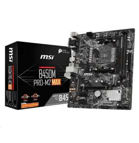MSI MB Sc AM4 B450M PRO-M2 MAX, AMD B450, VGA, 2xDDR4, m-ATX