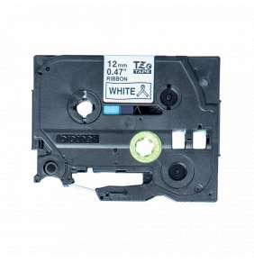 Brother - TZe-R231 bílá / čená (12mm, 4m, pruhovaná)
