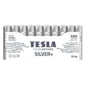 TESLA SILVER+ alkalická baterie AAA (LR03, mikrotužková, fólie) 10 ks