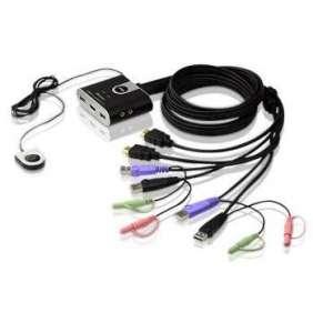 ATEN CS692 2-Port USB HDMI KVM Switch, Audio 2.1, Remote port selector (1.8m)