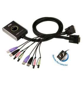 ATEN KVM switch CS-682 USB Hub 2PC DVI, audio